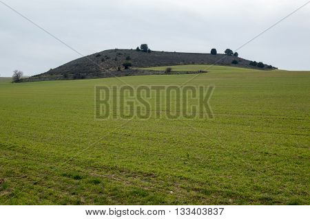 Small hill in Soria, Castilla Leon, spain