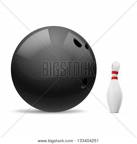 Big black ball scares a small white skittle.