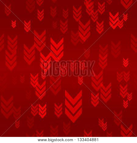 Down Red Arrow Seamless Pattern Background