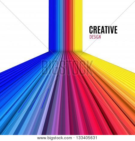 Abstract vector straight lines background. Colorful modern design background.