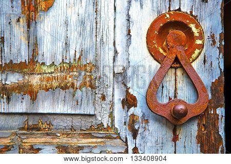 Abstract  House  Door     In Italy  Gray