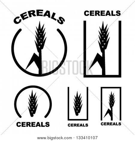 cereal ear black symbol vector