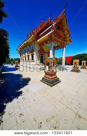 Kho Samui Bangkok In Thailand Incision Of The Buddha Pavement Sidewalk