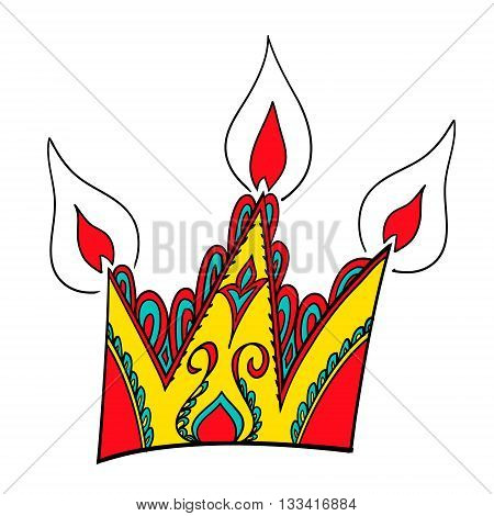 Crown icon. Funny original creative vector illustration for web design and Polygraphy