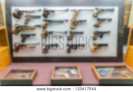 Abstract blur antique Handguns Collection