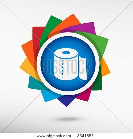 Toilet Paper Color Icon, Vector Illustration.