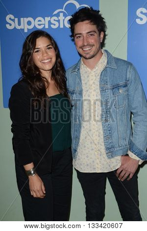 LOS ANGELES - JUN 7:  America Ferrera, Ben Feldman at the FYC Panel For Superstore at the UCB Theater on June 7, 2016 in Los Angeles, CA
