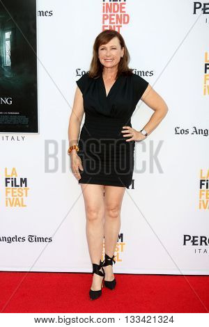 LOS ANGELES - JUN 7:  Jennifer Collins at the 2016 Los Angeles Film Festival - The Conjuring 2 Premiere at TCL Chinese Theater IMAX on June 7, 2016 in Los Angeles, CA