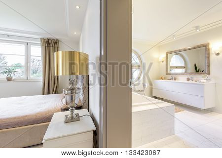 Luxurious Apartment With Bedroom And Bathroom