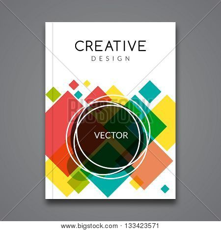 Vector Poster Flyer Template. Abstract colorful Background for Business Flyers Posters and Placards. Brochure tamplate.