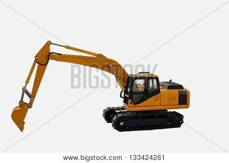 The Excavator loader model on white background