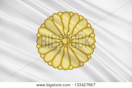 Flag of Japan is an island country in east Asia 3D rendering
