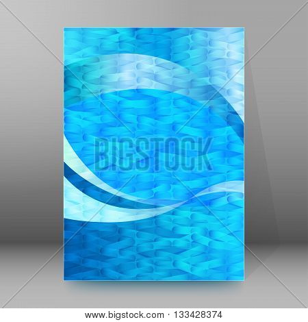 Brochure Cover Template Vertical Format Glowing Background04