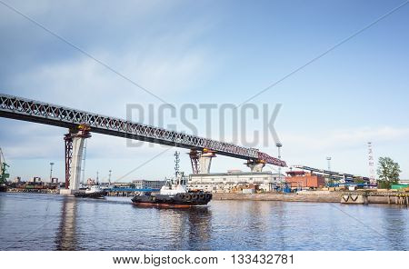 Viaduct Over Sea Canal On Kanonersky Island