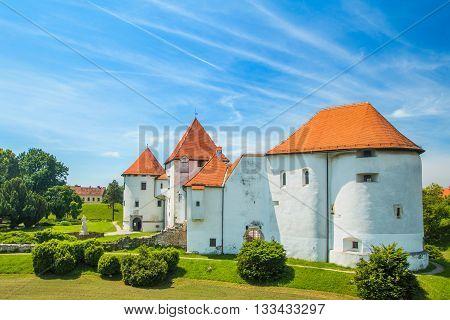 Old city castle in Varazdin, Croatia, originally built in the 13th century