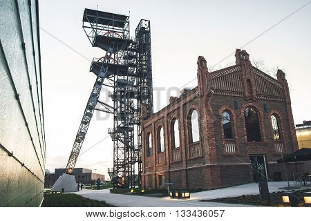 An old mine shaft converted to observation tower in Katowice