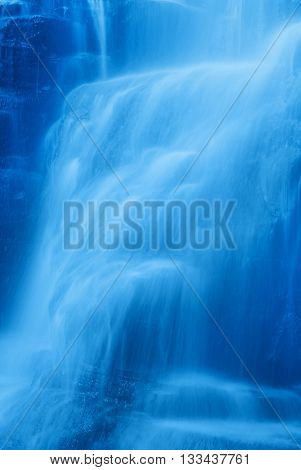 amazing waterfall with soft water in autumn