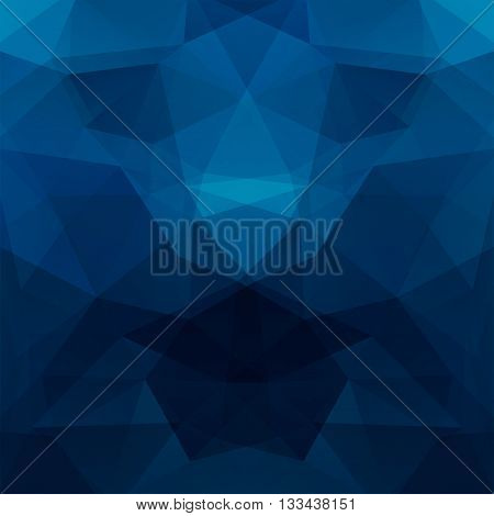 Background Made Of Triangles. Square Composition With Geometric Shapes. Eps 10 Dark Blue Colors.