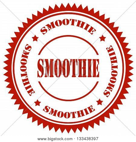 Red stamp with text Smoothie, vector illustration