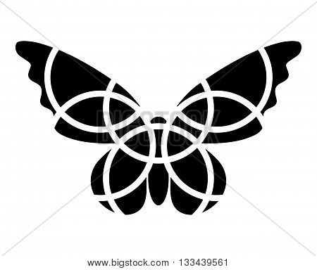 Butterfly icon. Mosaic butterfly clipart. Monochromatic. Isolated. Fragmented. Butterfly logo.