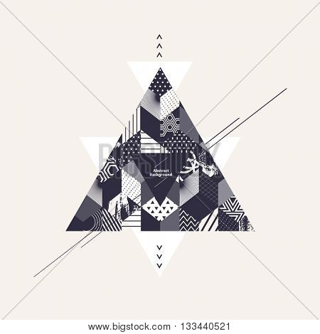 Abstract art background with triangles