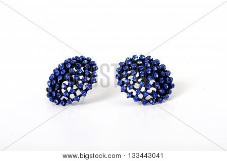 picture of a Close up of a blue earrings