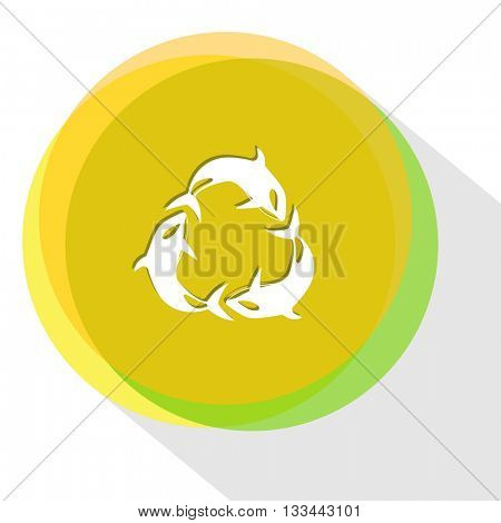killer whale as recycling symbol. Internet template. Vector icon.