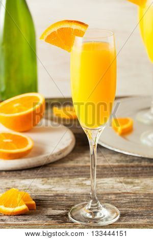 Homemade Refreshing Orange Mimosa Cocktails