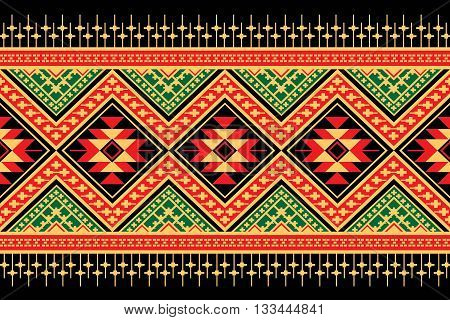 Ethnic pattern. Geometric pattern. Ethnic background pattern, Ethnic wallpaper pattern, Ethnic clothing pattern,Geometric Ethnic pattern design for background or wallpaper.