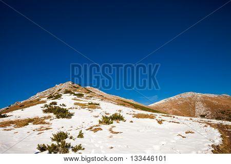 Slovakian Belianske Tatry Mountains Landscape