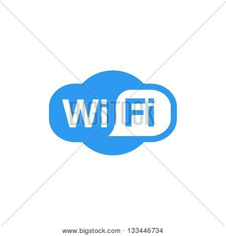 wi-fi vector blue icon isolated on white illustration