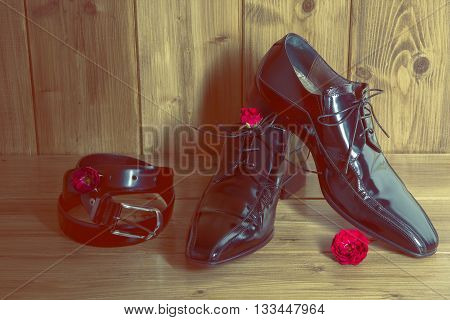 portrait of stylish shoes for youth man