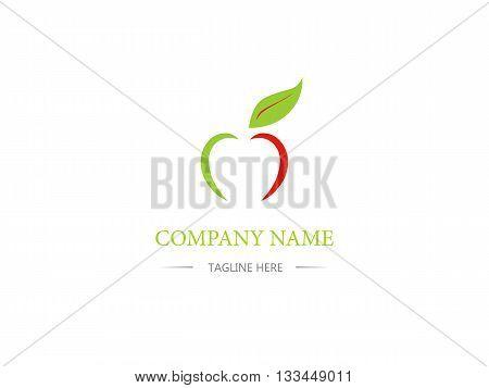 Apple Icon Design. Business Logo. Sign, Symbol. Cartoon, Flat Style.