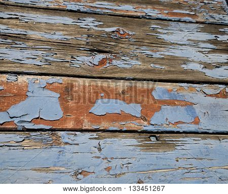 old wood blue painted texture wooden abstract,