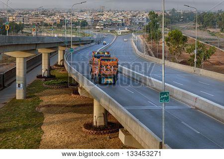 The flyover in Peshawar Pakistan would regulate traffic flow on Pak-Afghan highway.