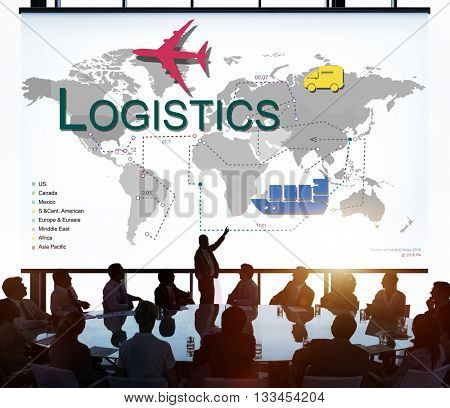 Logistics Freight Management Storage Supply Concept