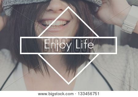 Enjoy Life Happiness Live Love Like Love Joy Concept