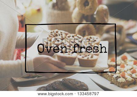 Oven Fresh Bake Baking Bread Bun Loaf Pastry Concept