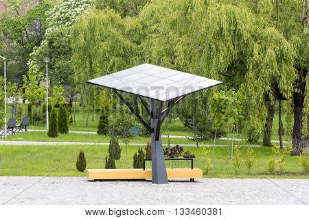 Big Solar Station/panel In A Park