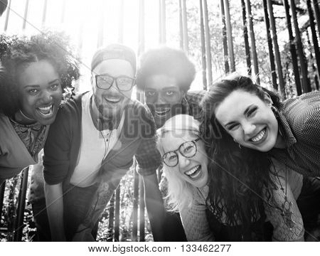 Multiethnic Group People Students Friendship Team Concept