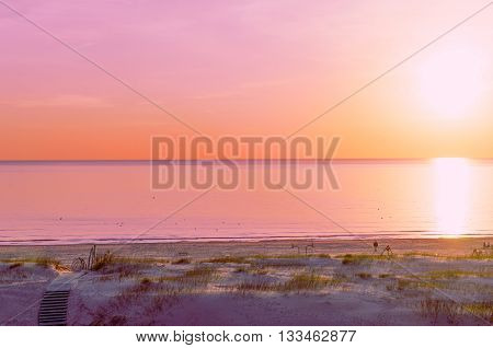Beach At Sunset In Ventspils