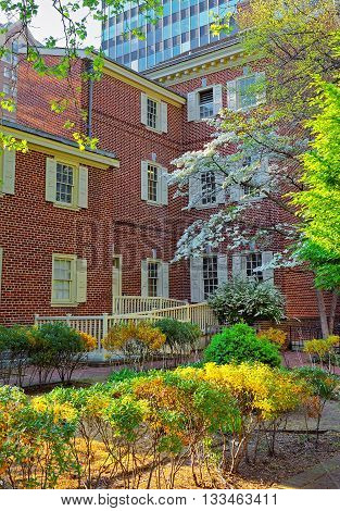 Pemberton House In Chestnut Street In Philadelphia