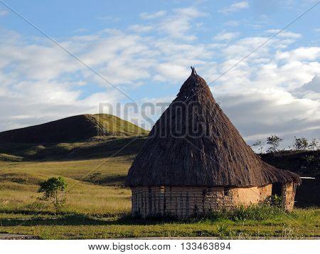 Churuata que alberga a los indígenas que habitan la Gran Sabana