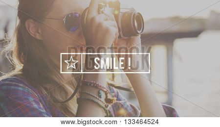 Smile Attractive Beautiful Cheerful Happy Positive Concept
