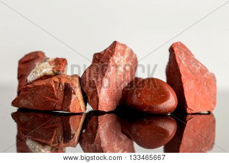 Red Jasper, Uncut And Polished, Crystal Healing