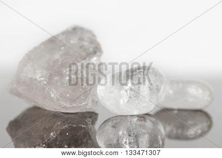 Quartz Crystal Uncut And Polished, Concept Alternative Medicine