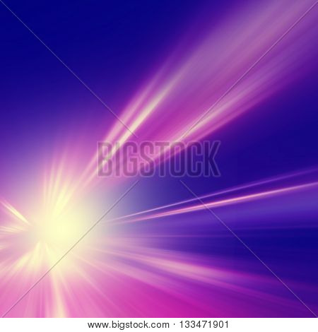 Abstract image of speed motion on the road at night.