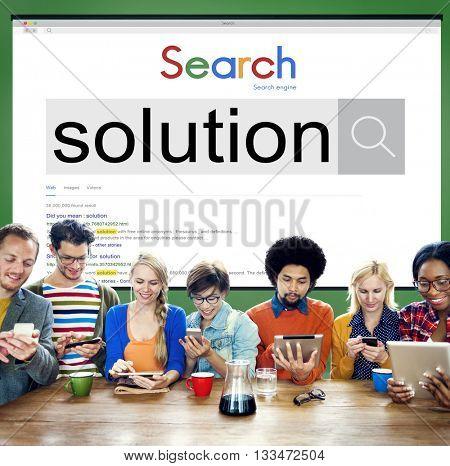 Solution Problem Solving Decision Progress Concept