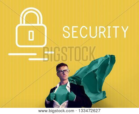 Security Safety Protection Shield Surveillance Concept