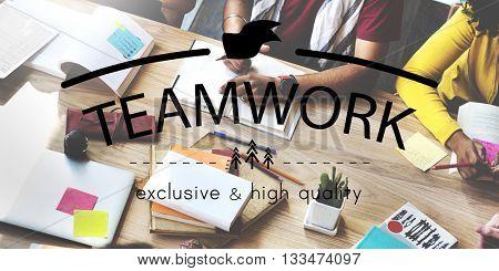 Teamwork Team Building Spirit Togetherness Concept